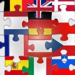 Puzzle mit Flaggen